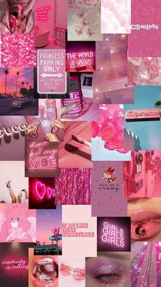 pink mood board, screen saver, pink aesthetic, wallpaper, pink wallpaper Pink Glitter Wallpaper, Pink Wallpaper Girly, Iphone Wallpaper Themes, Iphone Wallpaper Vsco, Bad Girl Wallpaper, Iphone Wallpaper Tumblr Aesthetic, Aesthetic Pastel Wallpaper, Cute Wallpaper Backgrounds, Cute Wallpapers