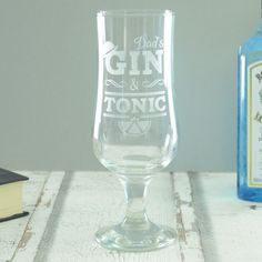 For the dedicated gin connoisseur in your life, Chalk and Cheese have designed the perfect gift with our Gin and Tonic Personalised Glass.