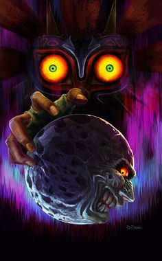 Skull kid and the moon.