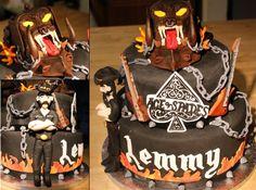 Motorhead cake  fondant Lemmy Kilmister Orgasmatron
