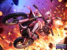 The sensational Gwenpool is now playable in Marvel Future Fight! Plus a special featuring the New Avengers including Squirrel Girl, Hulkling, Wiccan and more. Ms Marvel, Marvel Girls, Comics Girls, Marvel Comics, Dr Strange, Dr Stephen Strange, Character Drawing, Comic Character, Character Design