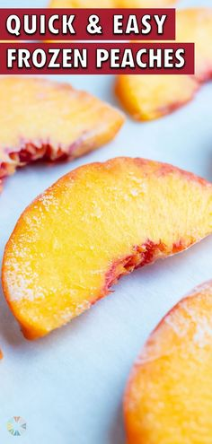 6 reviews · 15 minutes · Vegan Gluten free Paleo · Serves 4 · This easy method will help you Freeze Fresh Peaches that have either been peeled and cut into slices or are still whole. Store this frozen fruit in a freezer-safe bag to quickly and easily use in your… Peach Overnight Oats, Low Carb Carrot Cake, Sangria Recipes, Pie Recipes, Healthy Spring Recipes, Spring Soups, How To Peel Peaches, Southern Peach Cobbler, Peach Slices