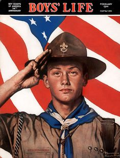 1942 ... Scout salute  copyright- estate of Norman Rockwell