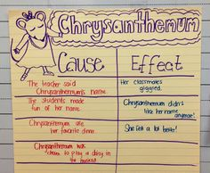 Cause and effect anchor chart!