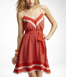 Simple red & white stripe. Love the lines.