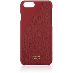 Native Union CLIC iPhone® 6/6s Case & Cable Set ($80) ❤ liked on Polyvore featuring accessories, tech accessories, red and native union