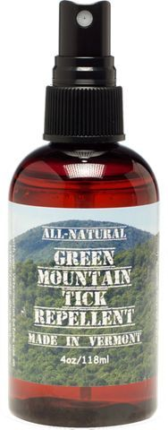Green Mountain tick repellent safely and effectively protects your family and pets from Lyme disease. DEET-free tick repellent is natural and smells pleasant. 4 oz. spray bottle.
