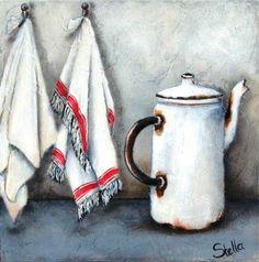LECHERA O TETERA BLANCA Stella Bruwer Vintage Paper, Still Life, Decoupage, Artsy, Crafty, Fine Art, Blanket, Illustration, Prints