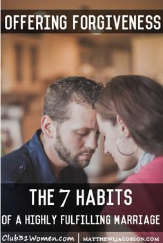 """""""There's probably no other relationship where the need for forgiveness presents itself more often."""" ~ MatthewLJacobson  The Freeing Habit of Offering Forgiveness"""