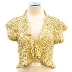 Vintage 70s Crochet Shrug  Crochet Bolero  by BreesVintageRevivals, $30.00