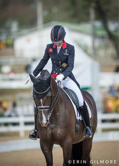 Charlotte Dujardin saw many nervous, ashen faces as she watched her competitors…