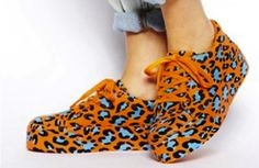 OMG! These #leapord #platforms are too wild to resist #shoes