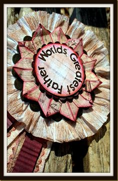 make a vintage rosette