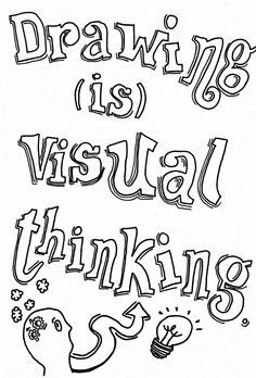 Drawing is visual thinking