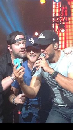 "Luke, Cole, and Lee... All three are fantastic on the ""That's My Kind of Night"" tour!!"