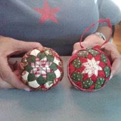 Quilted ornaments.....no sewing, oh so easy!!!