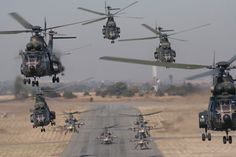 Have you ever seen so many helicopters together?