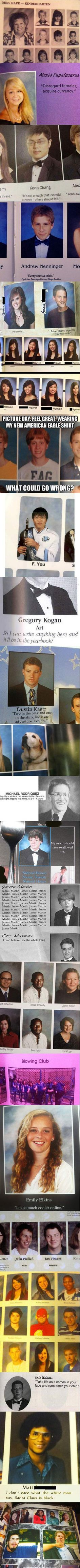 Best yearbook moments.