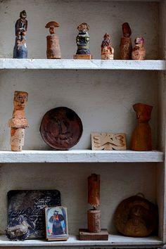 クートラス 屋根裏展覧会オブジェ- Robert Coutelas cork sculptures