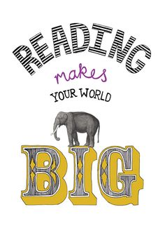 reading makes your world big by goldlion on Etsy, £10.00