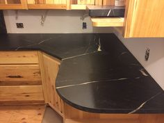 Gris Soapstone www.gardenstatesoapstone.com Soapstone Counters, Countertops, Corner Desk, Kitchen Ideas, Furniture, Home Decor, Corner Table, Vanity Tops, Decoration Home