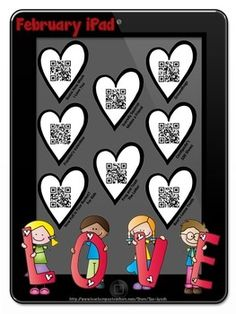 February Stories iPad with QR Codes~Scan for fun Listening
