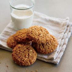 Chunky natural peanut butter lends a salty-sweet crunch to this super-easy cookie recipe.