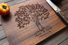 Beautiful Personalized cutting board.  Great gift!