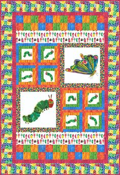 Very Hungry Caterpillar Quilt! How precious is this! $350
