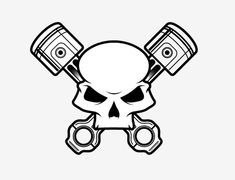 free eps clipart crossed pistons | Our current piston is a little too short to balance well when ...
