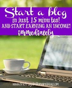 Start a blog NOW and receive a copy of my new ebook - The Beginner's Guide to Blogging - for FREE!! You will start generating an income immediately. What are you waiting for?!