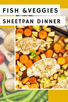 need an easy meal for tonight because your feeling lazy? This simple fish and veggies sheetpan dinner is made on a baking sheet so you have minimal mess! #easydinner #seafood #sheetpanmeal