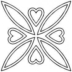 Stencil Coeurs Celtiques