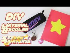 DIY: UTILES ESCOLARES STEVEN UNIVERSE - Libreta, Estuche y llavero Gato de Galleta - YouTube