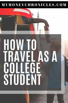 In today's post, I discuss different ways on how to travel as a college student. It's going to be easier than you thought. Usa Travel Guide, Asia Travel, Travel Usa, Wanderlust Travel, Travel Tips, Travel Articles, Travel Photos, Beautiful Places In Usa, Visit Usa
