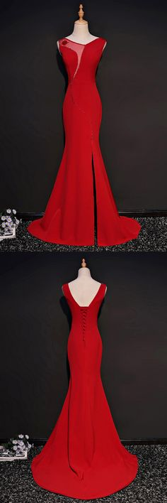 Only $158, Unique Red Fitted Mermaid Formal Dress With Slit #MQD17019 at #SheProm. SheProm is an online store with thousands of dresses, range from Formal,Evening,Red,Long Dresses and so on. Not only selling formal dresses, more and more trendy dress styles will be updated daily to our store. With low price and high quality guaranteed, you will definitely like shopping from us. Shop now to get $10 off!