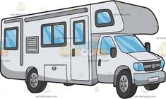 A Class C Motorhome Rv: A decent motorhome with white body paint several windo. - A Class C Motorhome Rv: A decent motorhome with white body paint several windows bumper and four - Class C Campers, Class C Rv, Travel Clipart, Fuel Truck, Hurricane Preparedness, Buying An Rv, Arts And Crafts House, Light Crafts, White Bodies