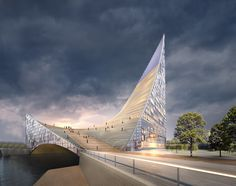Gallery of Piarena Designs Sail-Inspired Congress Hall Spanning Over Russian River - 4