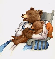 David T. Wenzel - Children's Art - Little Bear Little Bear Cartoon, Teddy Bear Cartoon, Cute Teddy Bears, Funny Animal Pictures, Cute Pictures, Urso Bear, Love Bears All Things, Mother Bears, Bear Art