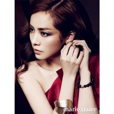 Han Ji Min for marie claire magazine-edit #rainie-minnie ❤ liked on Polyvore featuring models