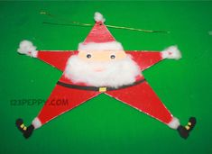 How to make Star Santa Claus - Seasonal Crafts - Christmas Crafts - Crafts for kids