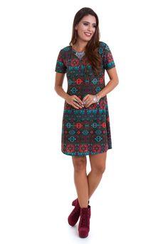 7a3c25178 O vestido curto estampado de mangas curtas da Manola é confeccionado em  liganete. O vestido
