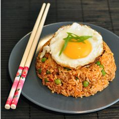 Korean Style Kimchi Fried Rice by droolfactor: Economical, quick, tasty and healthy! #Fried_Rice #Kimchi