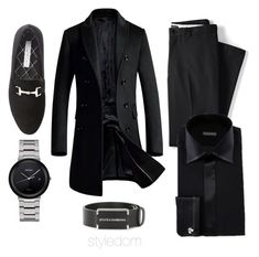 Untitled #360 by khouryolivia on Polyvore featuring polyvore Stefano Ricci Lands' End Steve Madden Seiko Dolce&Gabbana men's fashion menswear clothing