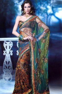 Embroidery designer Indian sari