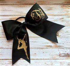 Glitter Monogram Twirler Bow, Baton, Dance,Cheer Bow, Monogrammed Gifts, Gymnastics, Big Cheer Bow, Cheerleaders, Girls, Teens