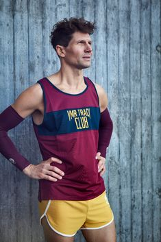 Track Attack Running singlet and Norr Mälarstrand Shorts Mustard. Made from 95 % recycled polyester and knitted in Sweden. Running Singlet, Winter Running, Sweden, Mustard, Tank Man, Track, Shorts, Mens Tops, Fashion