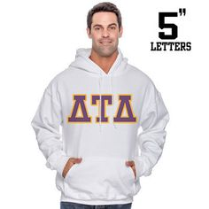 Fraternity Printed Hoody with 5-Inch Letters - Gildan 18500