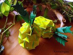 ▶ Origami ✲ Pineapple ✲ ( Modular ) - YouTube