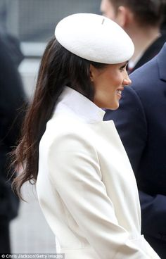 12 March 2018 - British Royals attend Commonwealth Day service at Westminster Abbey in London - coat and dress by Amanda Wakeley, shoes by Manolo Blahnik, clutch by Mulberry